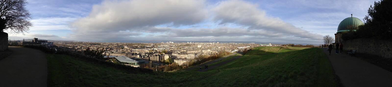 Panorama van Edinburgh stock fotografie