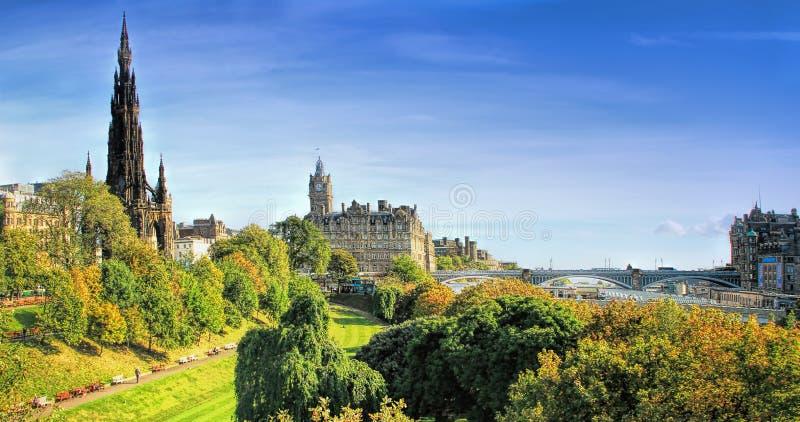 Panorama van Edinburgh, Schotland, het UK stock foto's