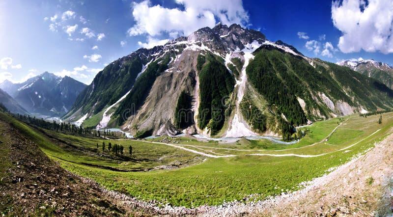 Panorama van een Berg in Ladakh, India stock fotografie
