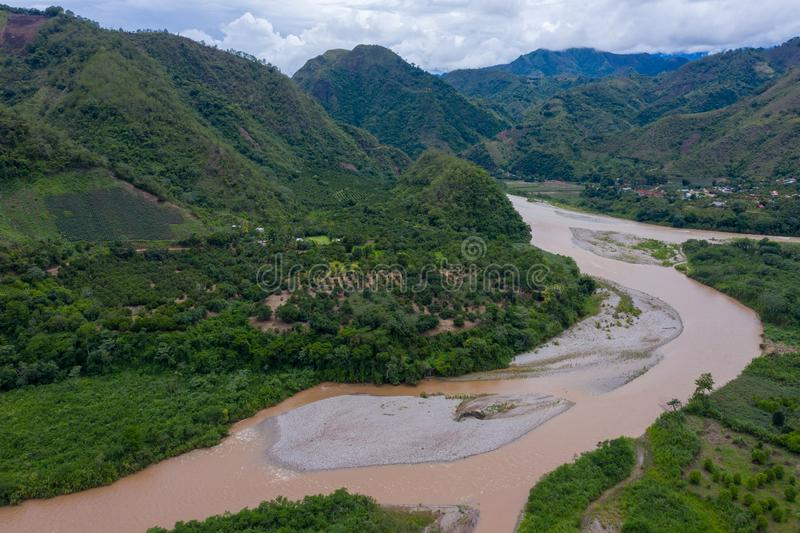 Panorama van een natuurlijk landschap in Peru royalty-vrije stock fotografie