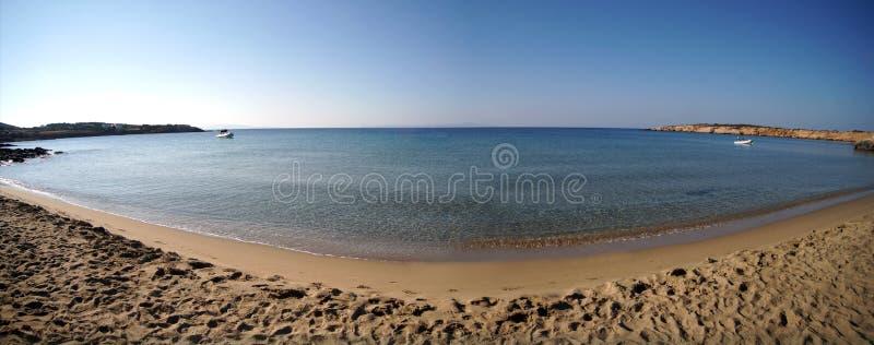 Panorama van Farangas-strand, Paros royalty-vrije stock foto