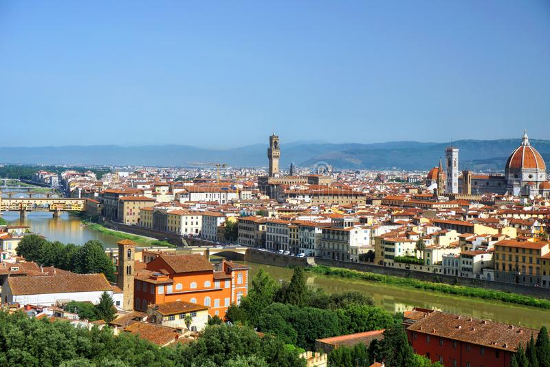 Panorama van Florence in Italië royalty-vrije stock afbeelding