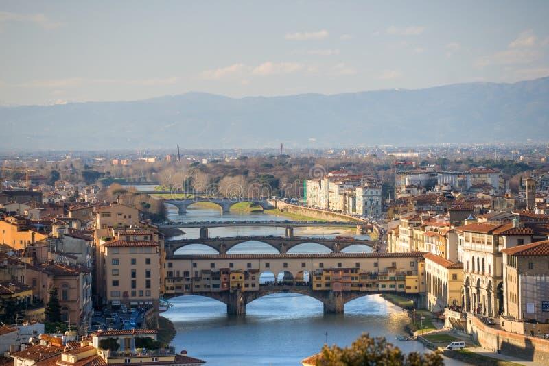 Panorama van Florence. Toscanië, Italië. royalty-vrije stock afbeelding