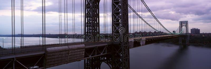 Panorama van George Washington Bridge over Hudson River van de Stad van New York, NY royalty-vrije stock afbeelding