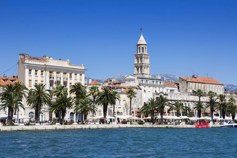 Panorama van Gespleten Kroatië stock foto's