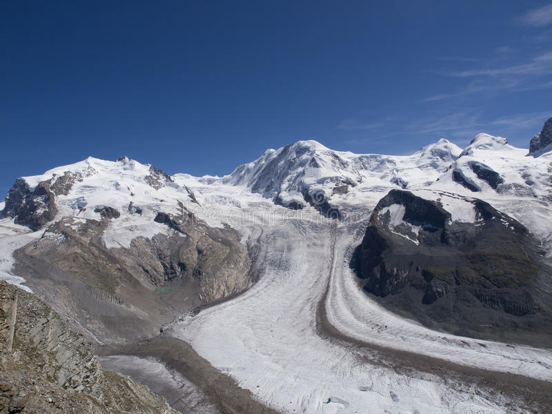 Panorama van Gornergrat royalty-vrije stock fotografie