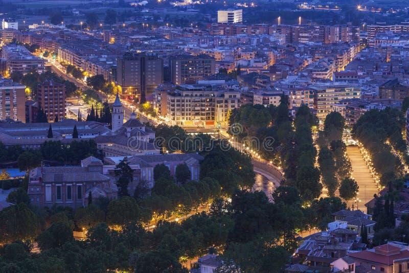 Panorama van Granada royalty-vrije stock afbeelding