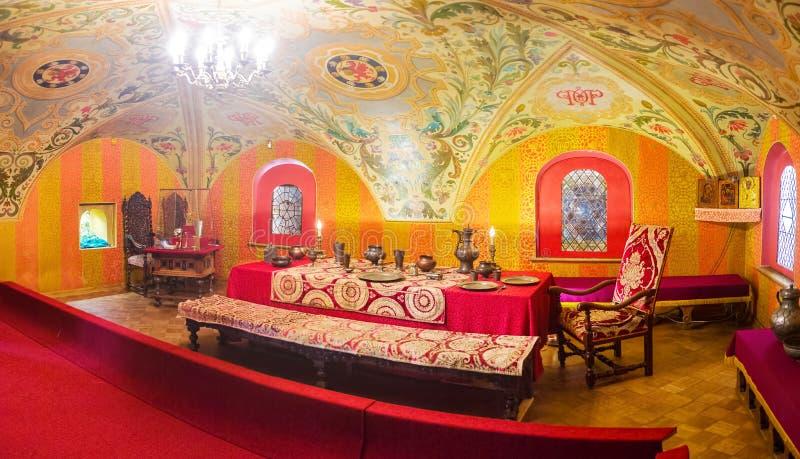 Panorama van Grote Zaal van Paleis van Romanov-Boyar royalty-vrije stock afbeeldingen