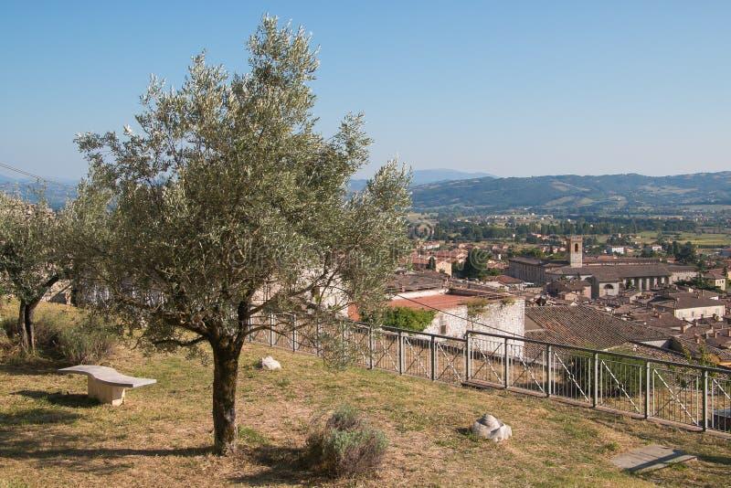 Panorama van Gubbio royalty-vrije stock afbeelding