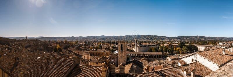 Panorama van Gubbio, Umbrië, Italië royalty-vrije stock fotografie