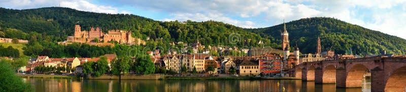 Panorama van Heidelberg, Duitsland royalty-vrije stock afbeeldingen