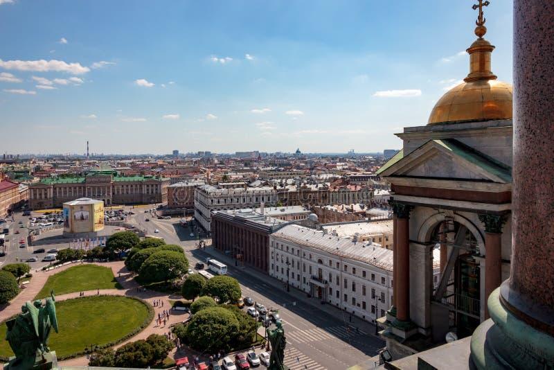 Panorama van heilige-Petersburg bij de zomer royalty-vrije stock foto's