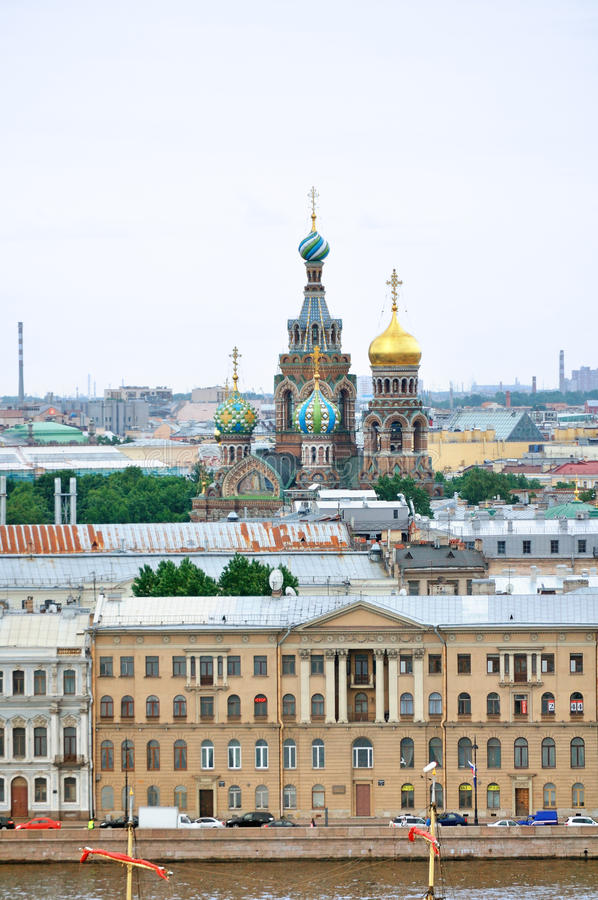 Panorama van Heilige Petersburg - panoramisch gezicht stock afbeeldingen