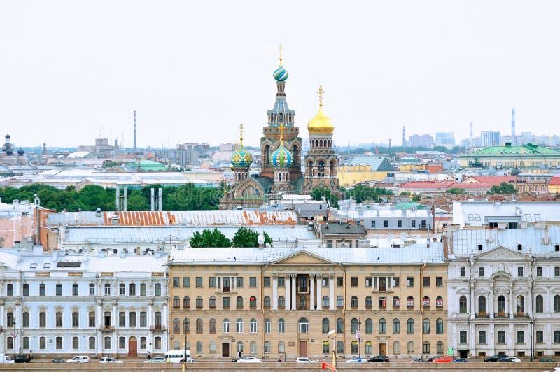 Panorama van Heilige Petersburg - panoramisch gezicht stock fotografie