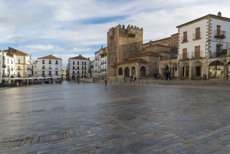 Panorama van het Belangrijkste Vierkant De Stad van de werelderfenis, door Unesco wordt toegekend die royalty-vrije stock afbeeldingen