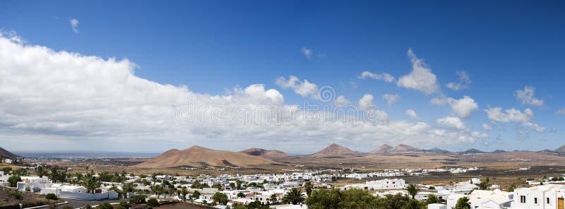 Panorama van het Eiland Lanzarote royalty-vrije stock foto