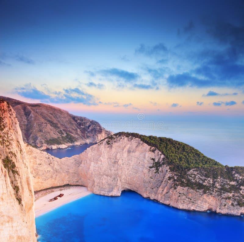 Panorama van het eiland van Zakynthos, Griekenland royalty-vrije stock foto's