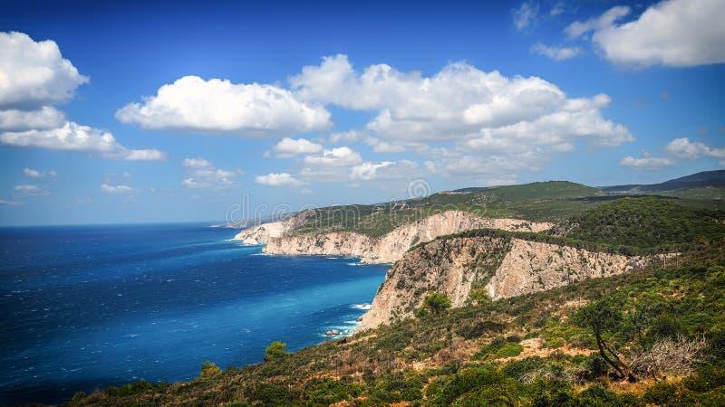 Panorama van het eiland van Zakynthos op een zonnige de zomerdag royalty-vrije stock fotografie