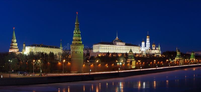 Panorama van het Kremlin in Moskou, Rusland royalty-vrije stock afbeelding