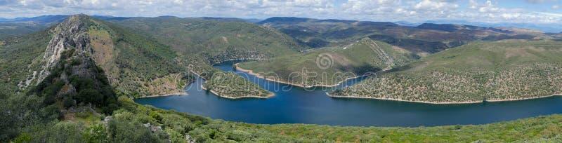 Panorama van het Monfrague het Nationale Park - Spanje royalty-vrije stock foto's