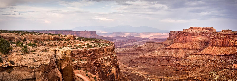 Panorama van het Nationale park van Canyonlands, Utah stock foto's