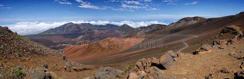 Panorama van het Nationale Park van Haleakala royalty-vrije stock afbeelding