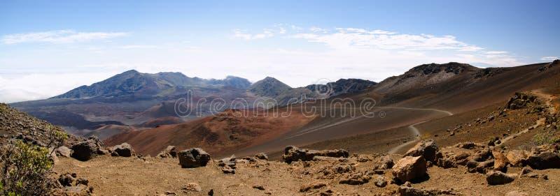 Panorama van het Nationale Park van Haleakala royalty-vrije stock fotografie