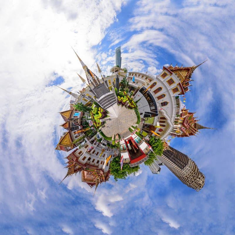 360 panorama van het openbare oriëntatiepunt van Wat Yannawa in Thailand royalty-vrije stock foto