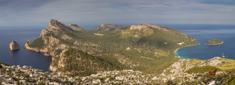 Panorama van het Schiereiland van GLB Formentor royalty-vrije stock afbeeldingen