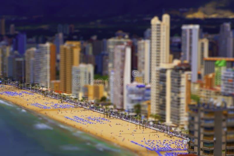 Panorama van het strand stock afbeeldingen