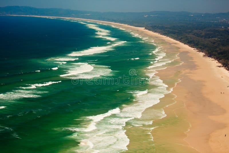 Panorama van het Strand van de Baai Byron, NSW, Au royalty-vrije stock afbeeldingen