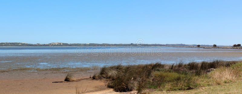 Panorama van het Westen Aust van Bunbury van het Estuarium Leschenault stock foto
