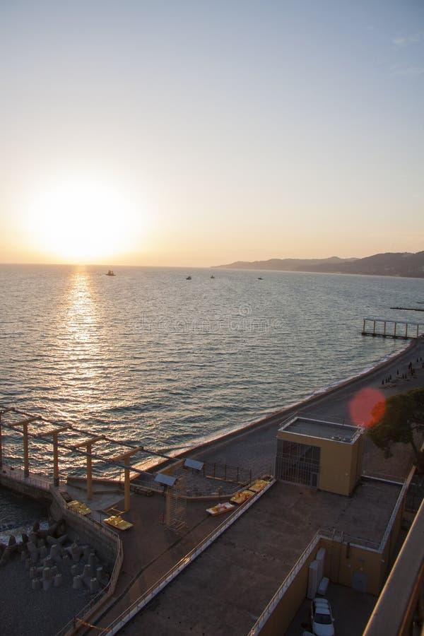 Panorama van het zeegezicht van Sotchi royalty-vrije stock afbeelding