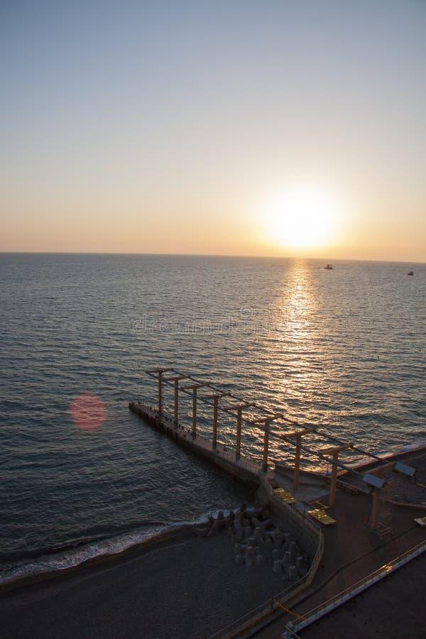 Panorama van het zeegezicht van Sotchi stock afbeelding