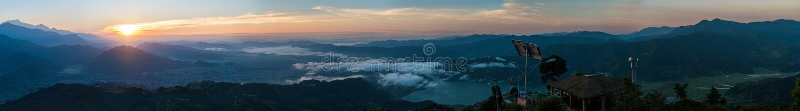 Panorama van Himalayagebergte, Nepal royalty-vrije stock fotografie