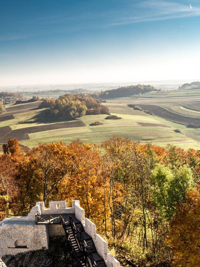 Panorama van Hoogland Krakau-Czestochowa stock foto's