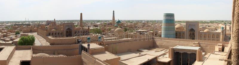 Panorama van Khiva royalty-vrije stock afbeelding