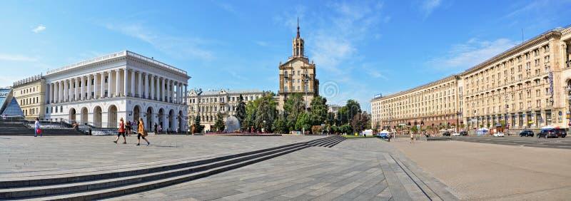 Panorama van Khreshchatyk, Kiev royalty-vrije stock fotografie