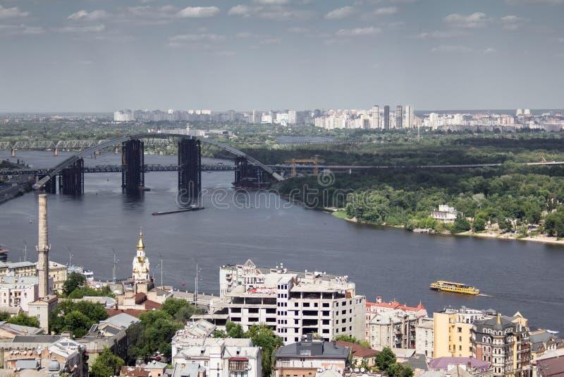 Panorama van Kiev royalty-vrije stock foto