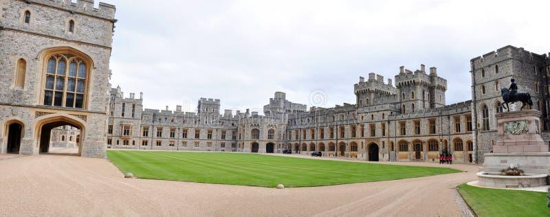 Panorama van Koninklijke Flats, Windsor kasteel, het UK stock foto's