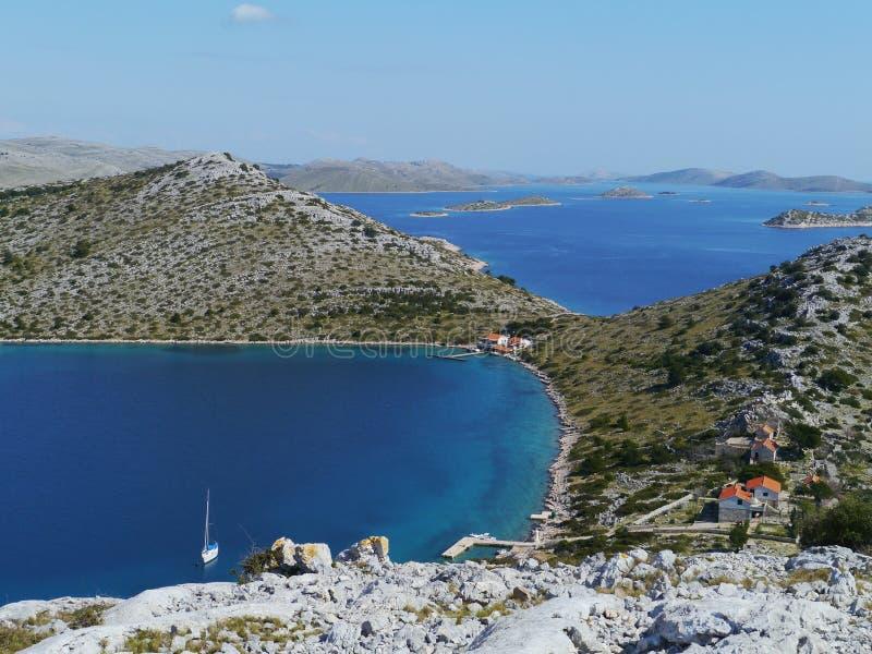 Panorama van Kroatische eilanden royalty-vrije stock foto