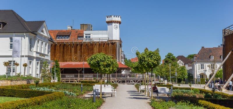 Panorama van Kurpark in Slechte Salzuflen royalty-vrije stock afbeelding