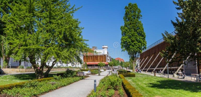 Panorama van Kurpark in Slechte Salzuflen stock afbeelding