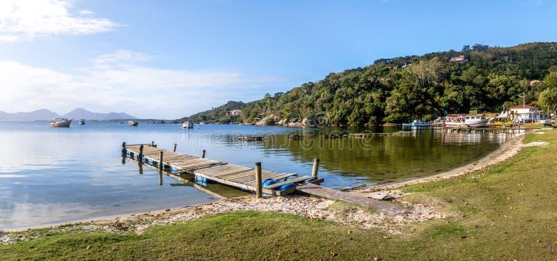Panorama van Lagoa DA Conceicao - Florianopolis, Santa Catarina, Brazilië stock foto