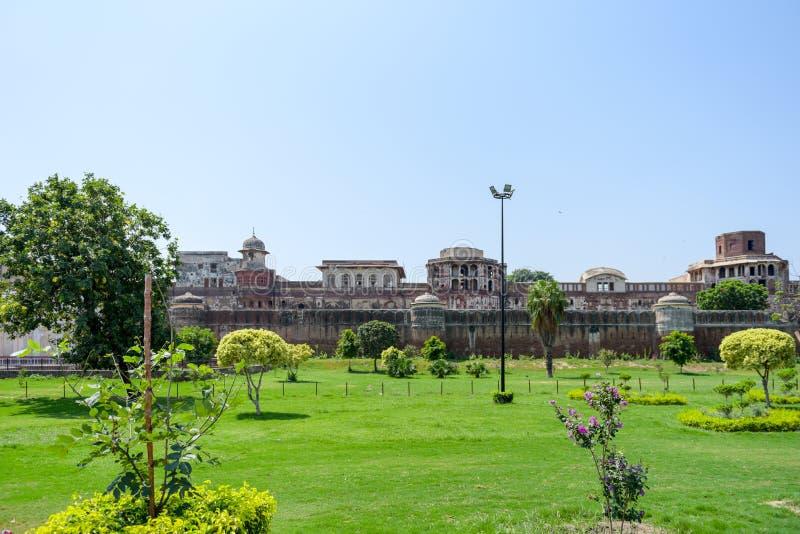 Panorama van Lahore-Fort, Lahore, Punjab, Pakistan stock afbeelding