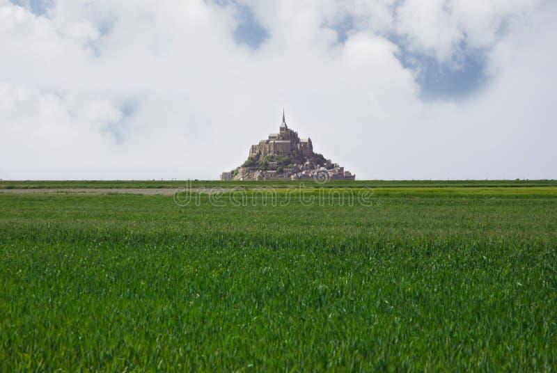 Panorama van Le Mont Saint Michel royalty-vrije stock afbeelding