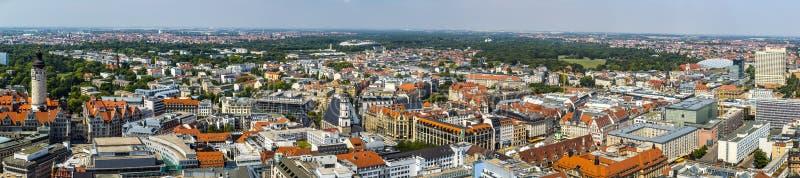 Panorama van Leipzig stock afbeeldingen