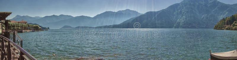 Panorama van Lenno, Meer Como royalty-vrije stock foto's