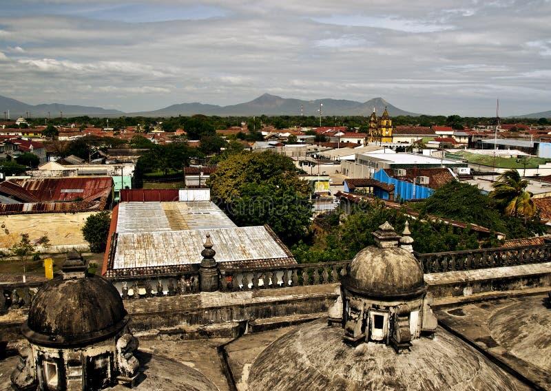 Panorama van Leon, Nicaragua stock fotografie