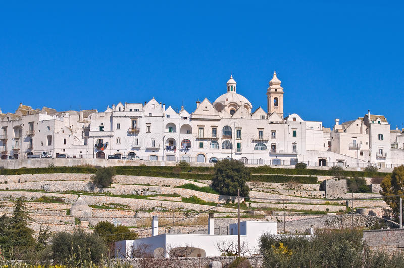 Panorama van Locorotondo. Puglia. Italië. royalty-vrije stock afbeelding
